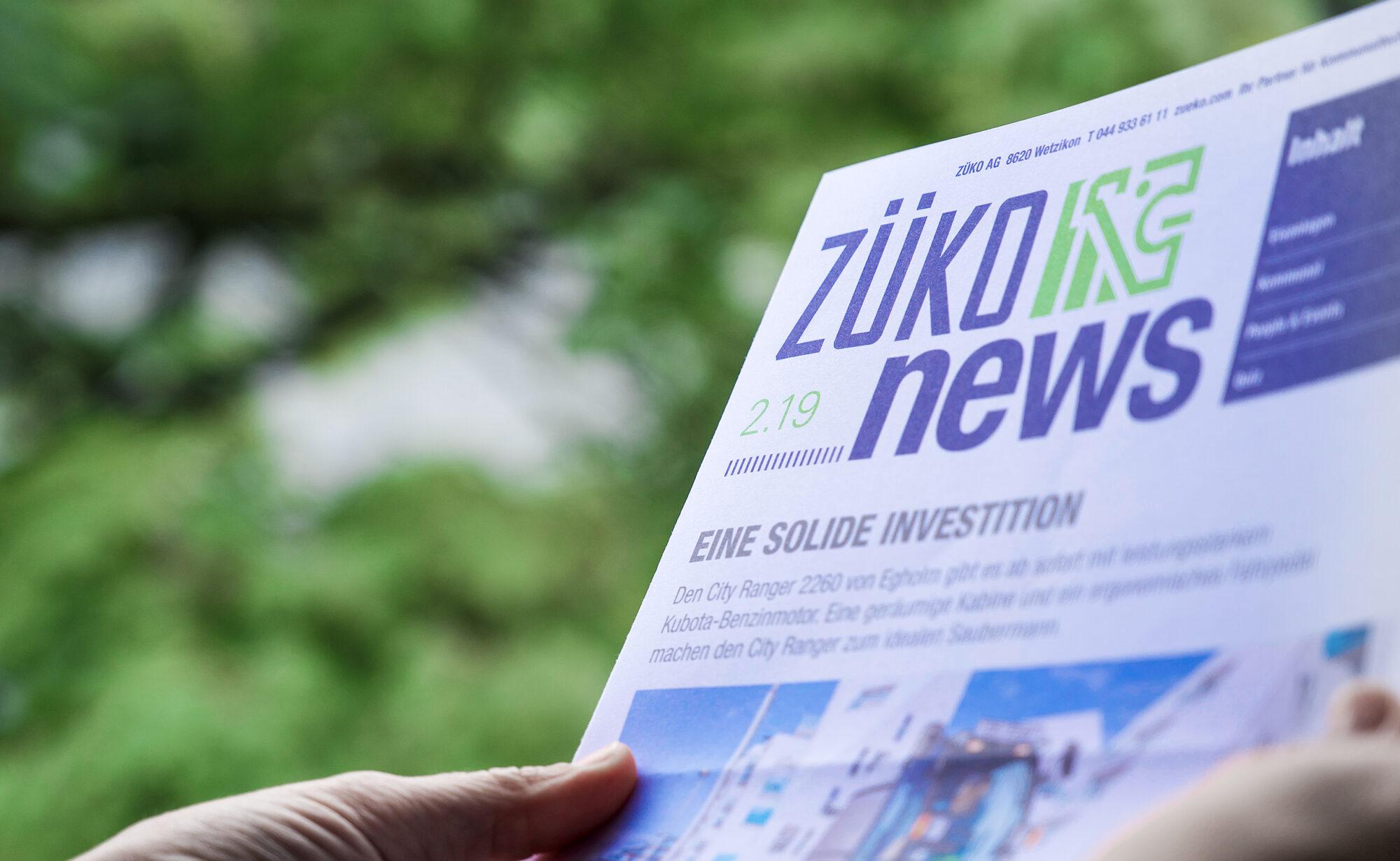 Foto Züko Newsletter – ZÜKO AG, Newsletter