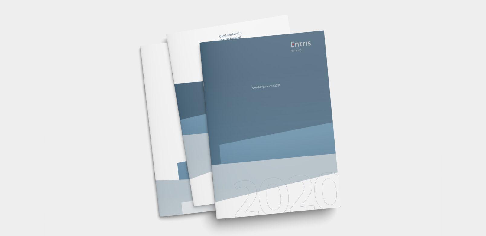 Covers - Entris Banking Geschäftsbericht, Agentur Schmucki