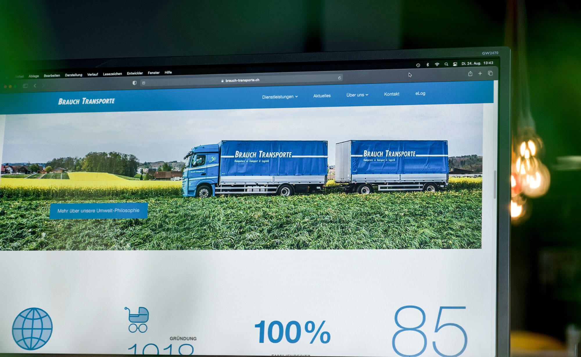 Foto von Website, Brauch Transport AG - brauch-transporte.ch
