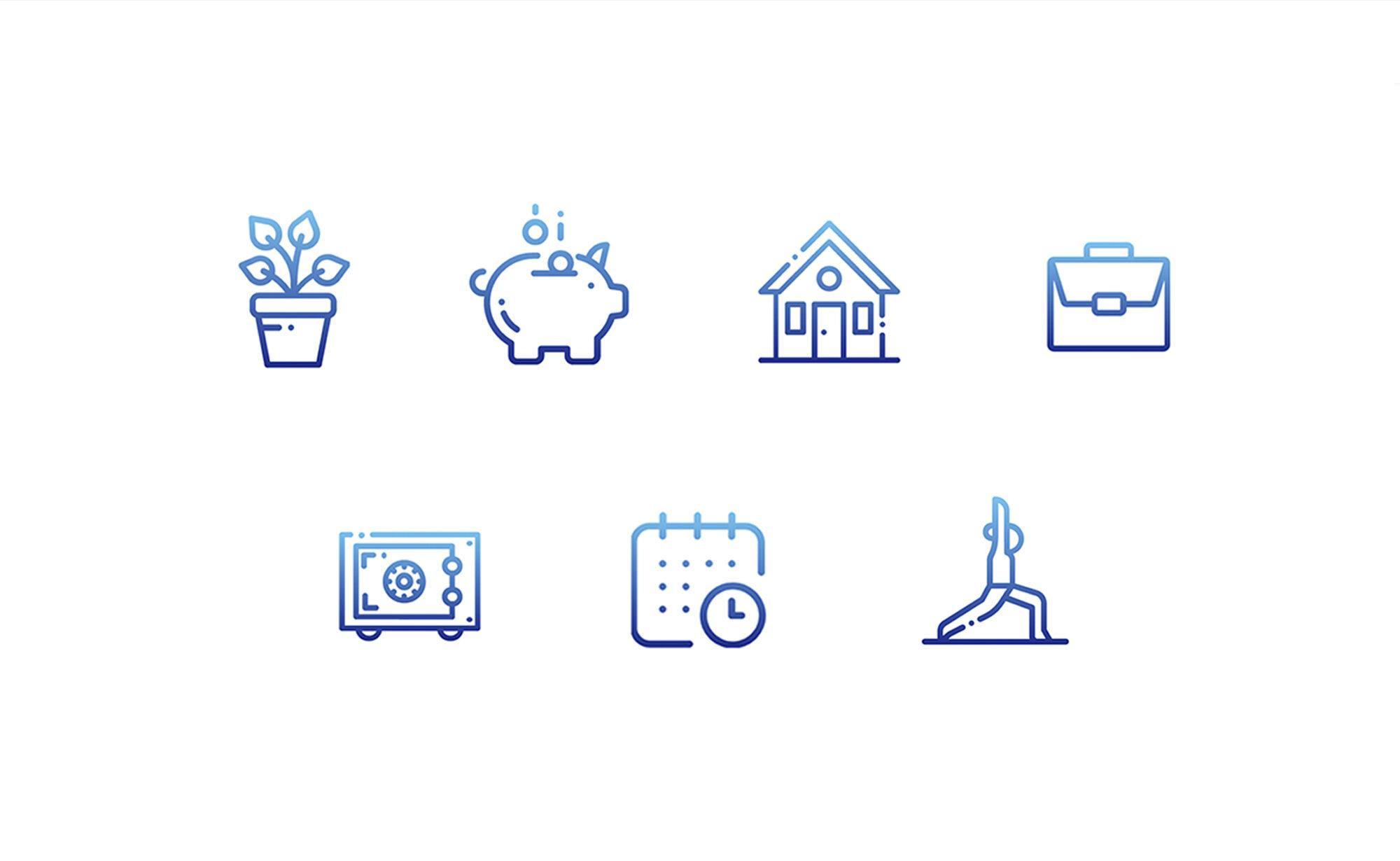 Icons von privor.ch - Privor Stiftung 3. Säule