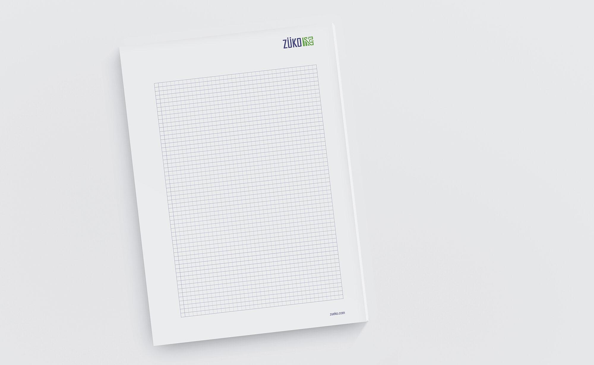 ZÜKO AG Papierblock, ZÜKO Corporate Design