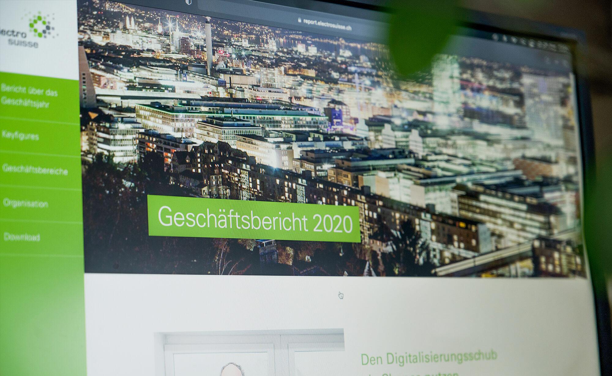 Foto von Digitaler Geschäftsbericht, Electrosuisse – Digitaler Geschäftsbericht