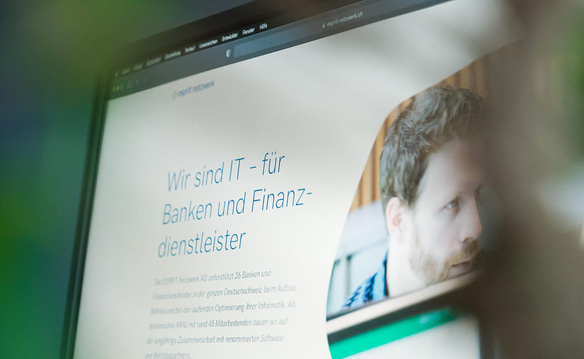 Foto von Website – Esprit Netzwerk AG