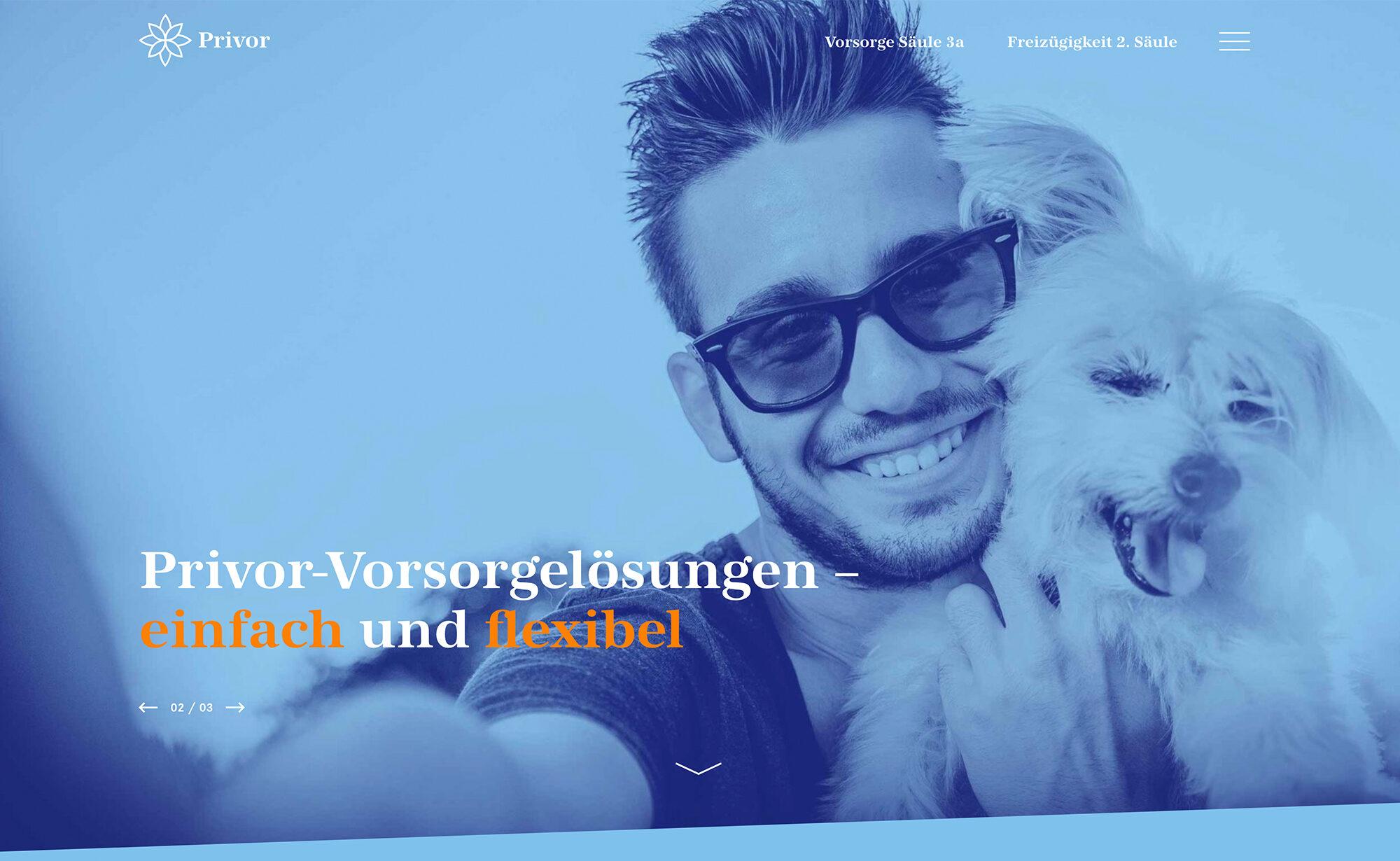 Privor-Vorsorgelösungen - Privor Stiftung 3. Säule, privor.ch Screenshot